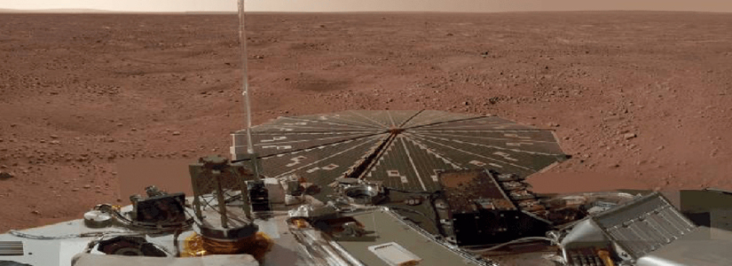 cropped photo of Phoenix on the Martian surface
